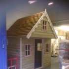 Second part of construction of a bespoke playhouse in the workshop