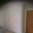 Wardrobes with sprayed doors and matching cornice (Blackheath)
