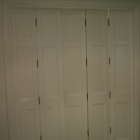 Hardwood doors to fit non-standard opening size, hand finished in white eggshell (Bond Street, W1)