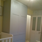 Child's bedroom wardrobe finished in duck egg blue(Kew)