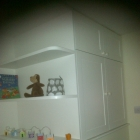 Child's Bedroom wardrobe with curved shelves (Greenwich)