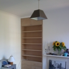 Alcove unit with drawers below with adjustable shelves  client is to paint the units (Clapham)