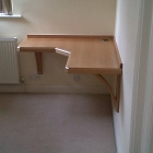 A bespoke curved desk made in vennered and solid Beech (Greenwich)