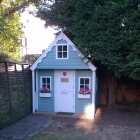 Completed bespoke playhouse on site 