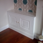 An alcove unit with mouldings matched to room panelling (Hampstead)