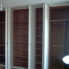 The inside of a wardrobe with hanging space and shelves   (Waterloo)