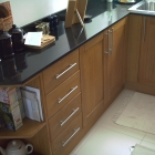Extra units built to match existing kitchen to fit under unused breakfast bar (Regent's park)