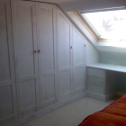 Wardrobes to a loft conversion with shaker style doors client to supply there own handles (Stoke Newington)