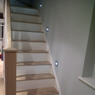 Oak treads with white risers fitted to an existing staircase  (Greenwich)
