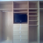 Open faced wardrobes in ash solids and