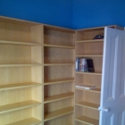 These beech veneer bookcases create a small library (Dulwich Village)