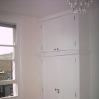 Here we matched an original victorian wardrobe in the neighboring alcove (Highbury)