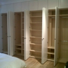The inside of the wardrobe opposite with ash carcase(Dulwich Village)