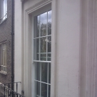 New Georgian sashes to replace rotten ones 3 meters in height finished in a weather shield gloss paint   (Marble Arch)