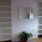 Floating shelves to alcoves hand painted in white eggshell (West Dulwich)