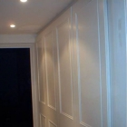 Wardrobe with shaker style doors, hand painted in white eggshell (Kensington)