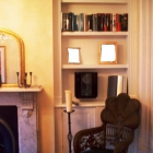 Hand painted alcove unit with plaster cornice followed around the top(Chiswick)