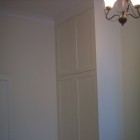 A shaker style wardrobe fitted to the bedroom's alcove (Maida vale)